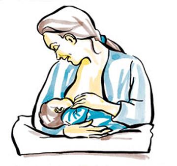 Mẹ nên tham khảo Tư thế cho con bú nằm trên đùi mẹ, và dùng cánh tay cùng chiều với bầu vú bé đang ti để hỗ trợ nhé!